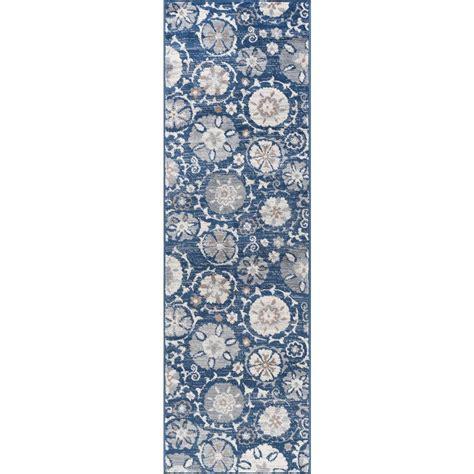 10 5 x 10 5 ft rug tayse rugs navy 2 ft x 10 ft runner rug mdn3107