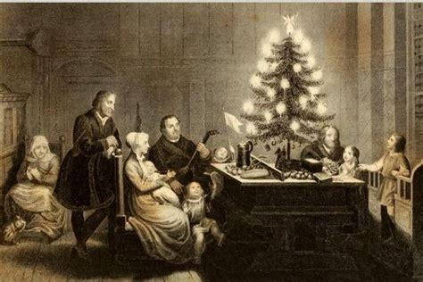 luthers christmas tree trees are not pagan logos apologia