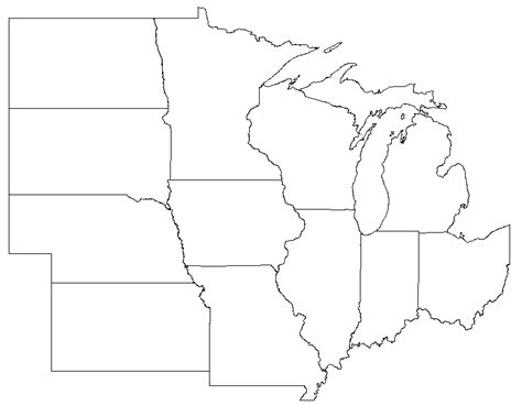 us midwest region map blank cdoovision