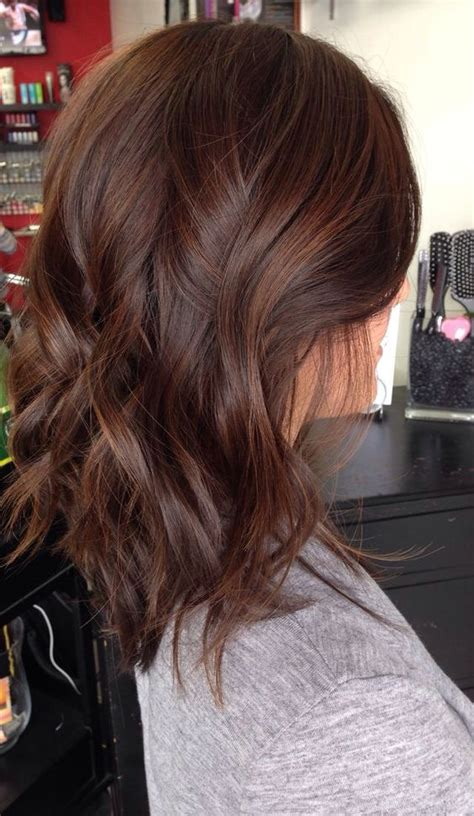 Brown Color Hairstyles by Medium Length Hair Highlights With Caramel Color