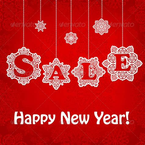 vector new year sale placard graphicriver