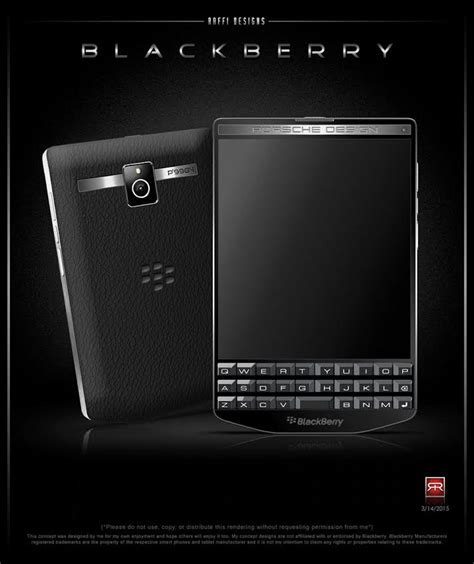 porsche design phone blackberry porsche design p 9984 envisioned as concept