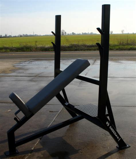 olympic incline bench press p02 power olympic incline bench press with adjustable seat and spotter