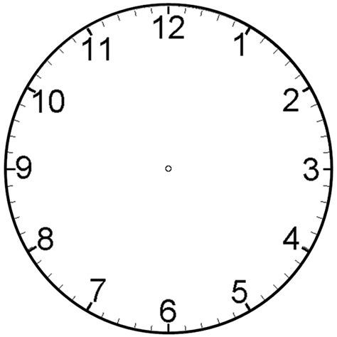 clock templates blank clock faces for exercises activity shelter