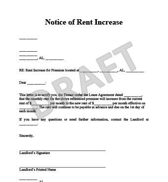 Rent Increase Notice Sle Letter Ireland sle rent increase letter 28 images sle rent increase