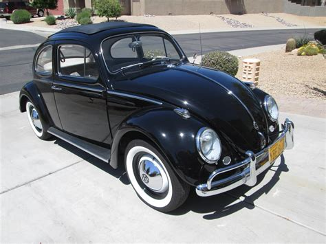black volkswagen bug 1960 volkswagen beetle sunroof 180247