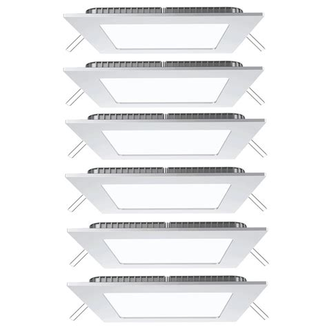 alu decken 6er set led panels aus alu zur decken und wandmontage vt 307