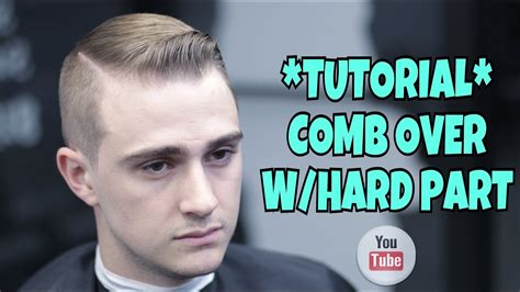 how to cut a hard part comb over w hard part haircut tutorial how to cut hair