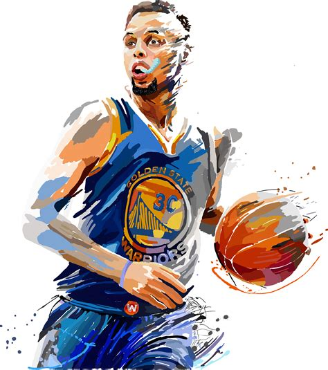 painting pictures drawing murphy miranda steph curry painting vector illustration