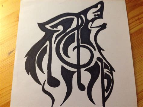 imgs for gt easy music drawing ideas wolf with music note drawing silentartist1018 169 2018