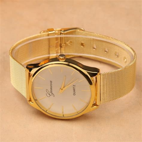 Jam Tangan Fashion Geneva Gf02 geneva jam tangan analog yq001gd golden