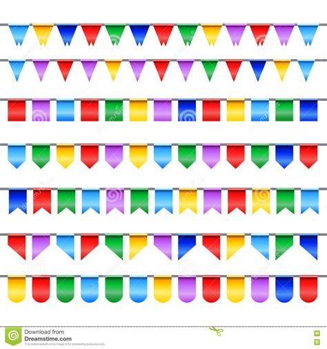 Flag Banner Bunting Flag Happy Birthday flags banner with happy birthday stock vector image