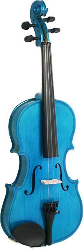 colored violins blue moon vg 105 blue violin 3 4 size hobgoblin usa