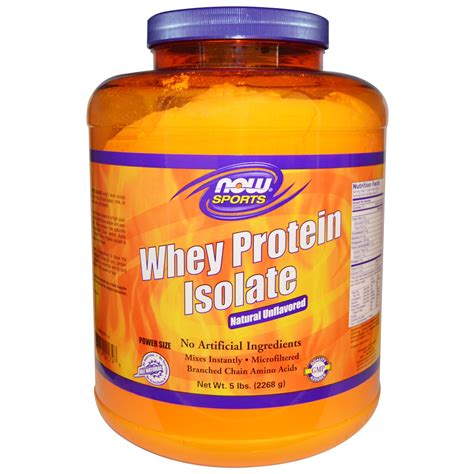 Whey Protein Isolate Now Foods Sports Whey Protein Isolate
