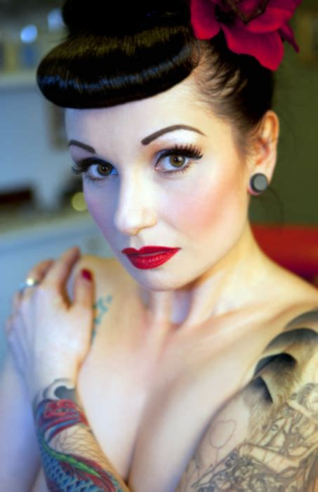 Rockabilly Pin Up Hairstyles by Flower Hairstyle Makeup Pin Up Rockabilly Image