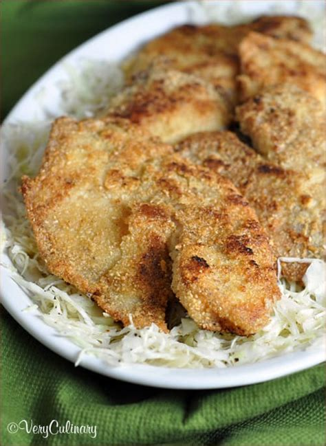 gluten free fish fry with a simple slaw