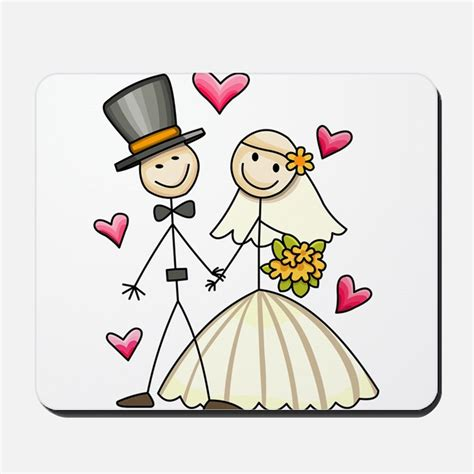 Wedding Stick Figures by Stick Figure Wedding Mousepads Buy Stick Figure Wedding