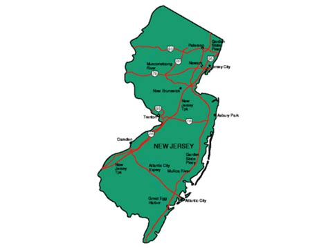 new jersey state map new jersey facts symbols tourist attractions