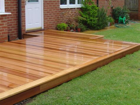 Western Red Cedar Deck by Green Onion   Rustic   Landscape