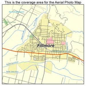 fillmore california map aerial photography map of fillmore ca california