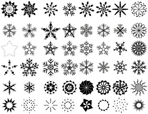 snowflake pattern illustrator snowflake designs for fill in space between larger tattoo