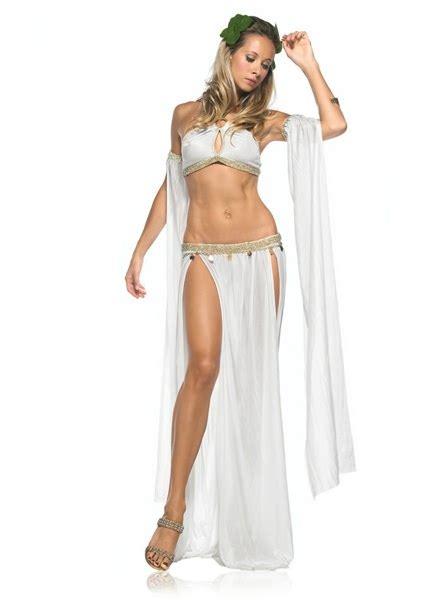 Yasmine Maxi Ootd By Thalia white goddess of 4pc costume