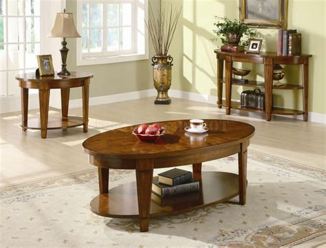 living room : Rustic Living Room Side Table With Oval Wooden End Table With Tier Also White