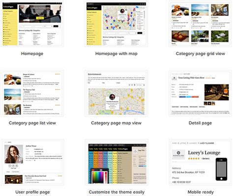 Yellow Pages Search Yellow Pages Directory Theme For Business Directories