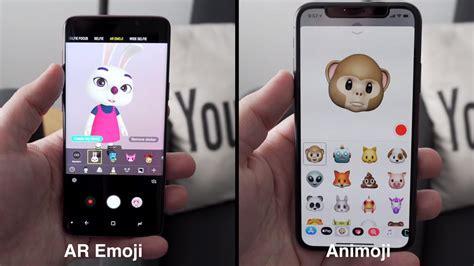 comparison video iphone  animoji  samsung ar emoji