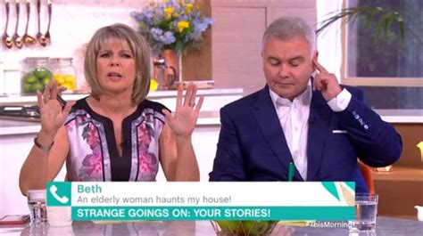haunted doll on this morning eamonn and ruth shocked as this morning caller proves