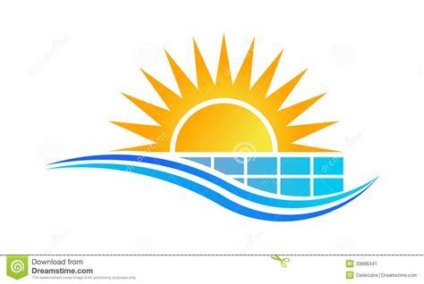 sun solar logo sun and solar panel logo stock image image 33896341
