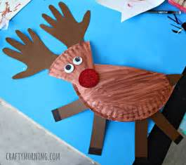 Holiday Crafts For Children - paper plate reindeer craft for kids crafty morning