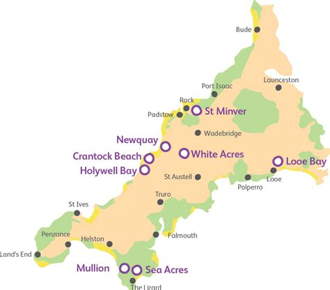 map uk cornwall parks in cornwall family holidays in cornwall uk