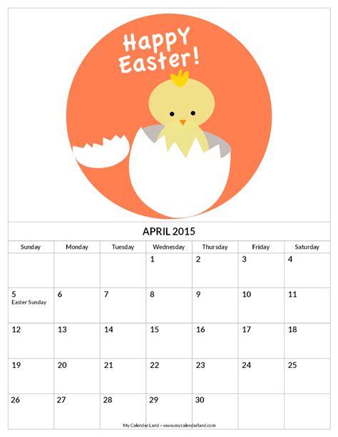 9 best images of free printable april calendar pieces