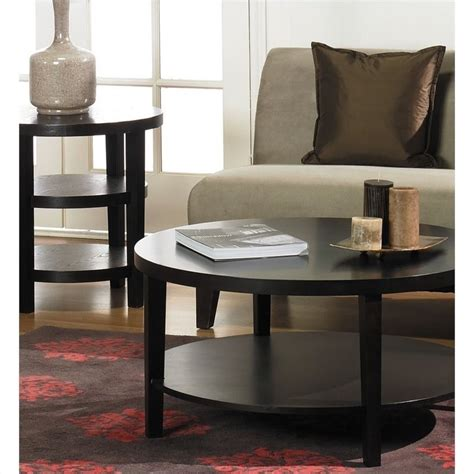 accent table sets avenue six merge espresso coffee table end table set