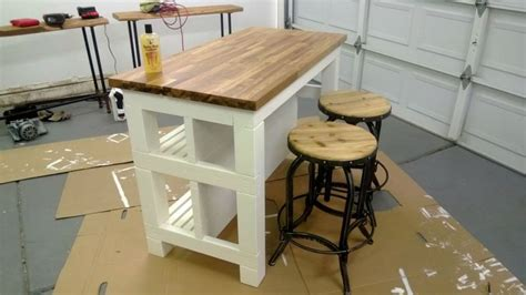 Diy Ikea Kitchen Island Diy Kitchen Island With Ikea Butcher Block Countertop