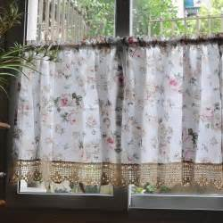 Details about french country floral rose cafe kitchen curtain 007