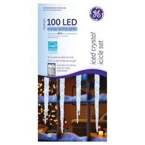 Ge Led Icicle Lights by Santa S Best Craft Llc Ge 96ct Wht Led Icicle