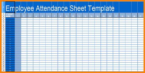 printable employee attendance sheet calendar excel 2017