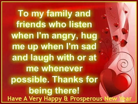 thank you family and friends for being there happy new