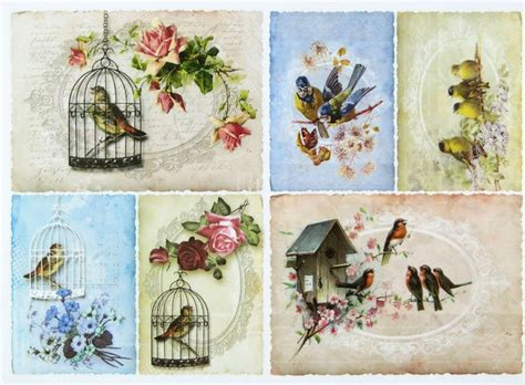 details about a 4 classic decoupage paper scrapbook sheet
