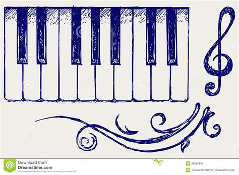 doodle do piano piano royalty free stock image image 26595856