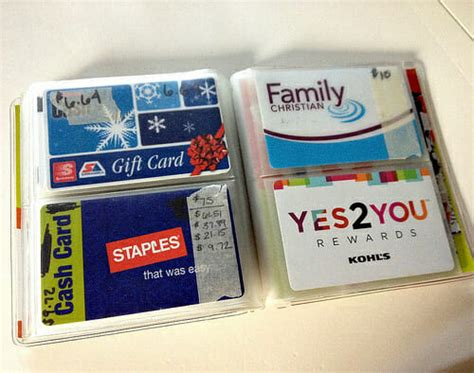 Track Gift Cards - how i store organize and track our gift cards andrea dekker