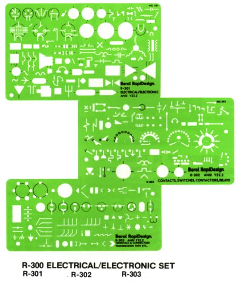 Electrical Drafting Templates by Rapidesign Templates