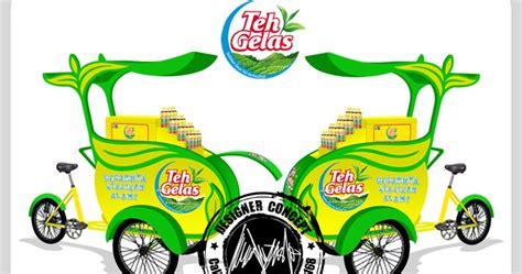 desain kemasan teh gelas desain dan produksi gerobak desain gerobak sepeda teh gelas