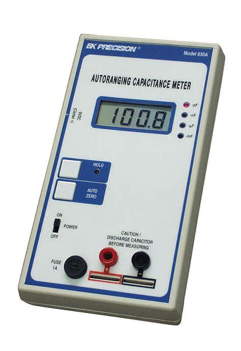 capacitance meter model 830 discontinued model 830a auto ranging capacitance meter b k precision