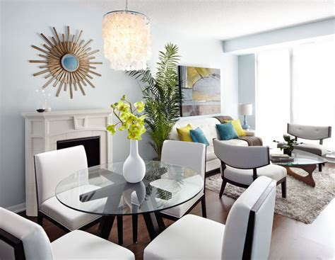 Small Eclectic Dining Room Small Apartments Big Style Eclectic Dining Room