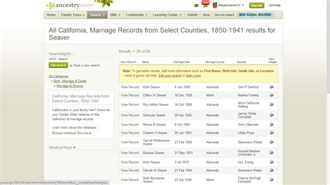 Marriages In California Records Genea Musings California Marriages 1850 1941 For Selected Counties Now On Ancestry