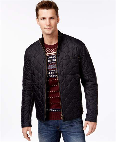 Black Quilted Jacket by Barbour Axle Quilted Jacket In Black For Lyst
