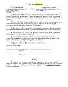 broker contract sample free printable documents